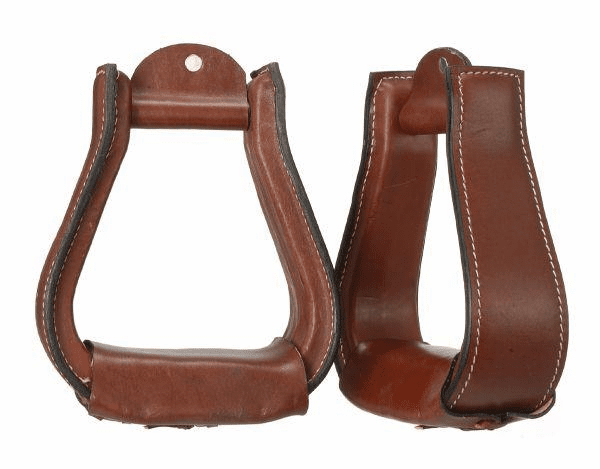 Leather Covered Stirrups - 57-98300-32-0