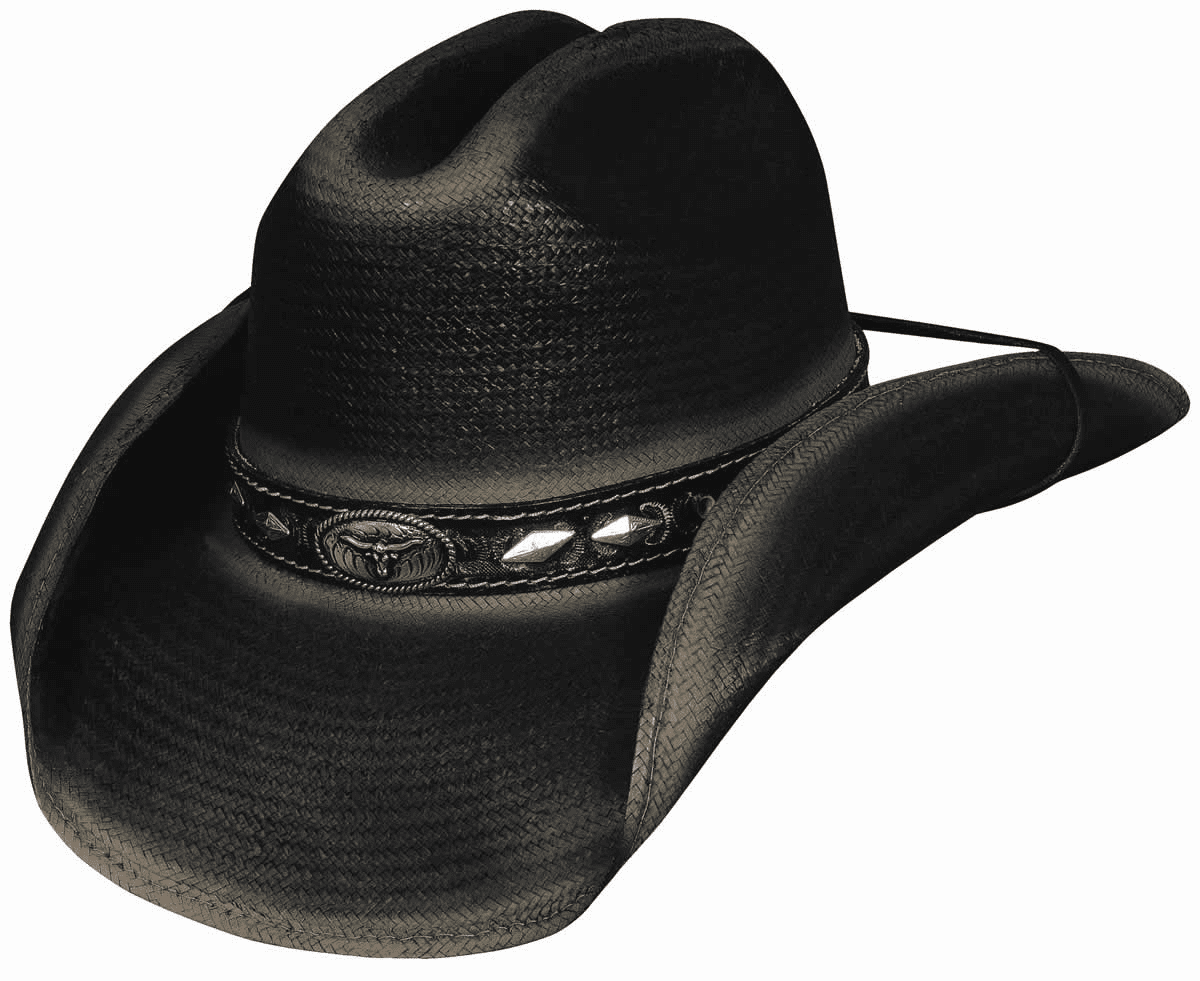 Little Big Horn Straw Hat - Black