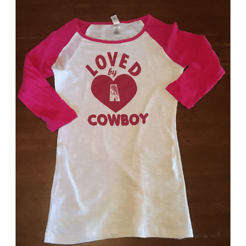 Loved by A Cowboy Baseball Tee  Jr