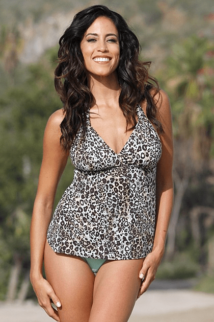 Mint Leopard Tankini Set  Regular - Plus Size