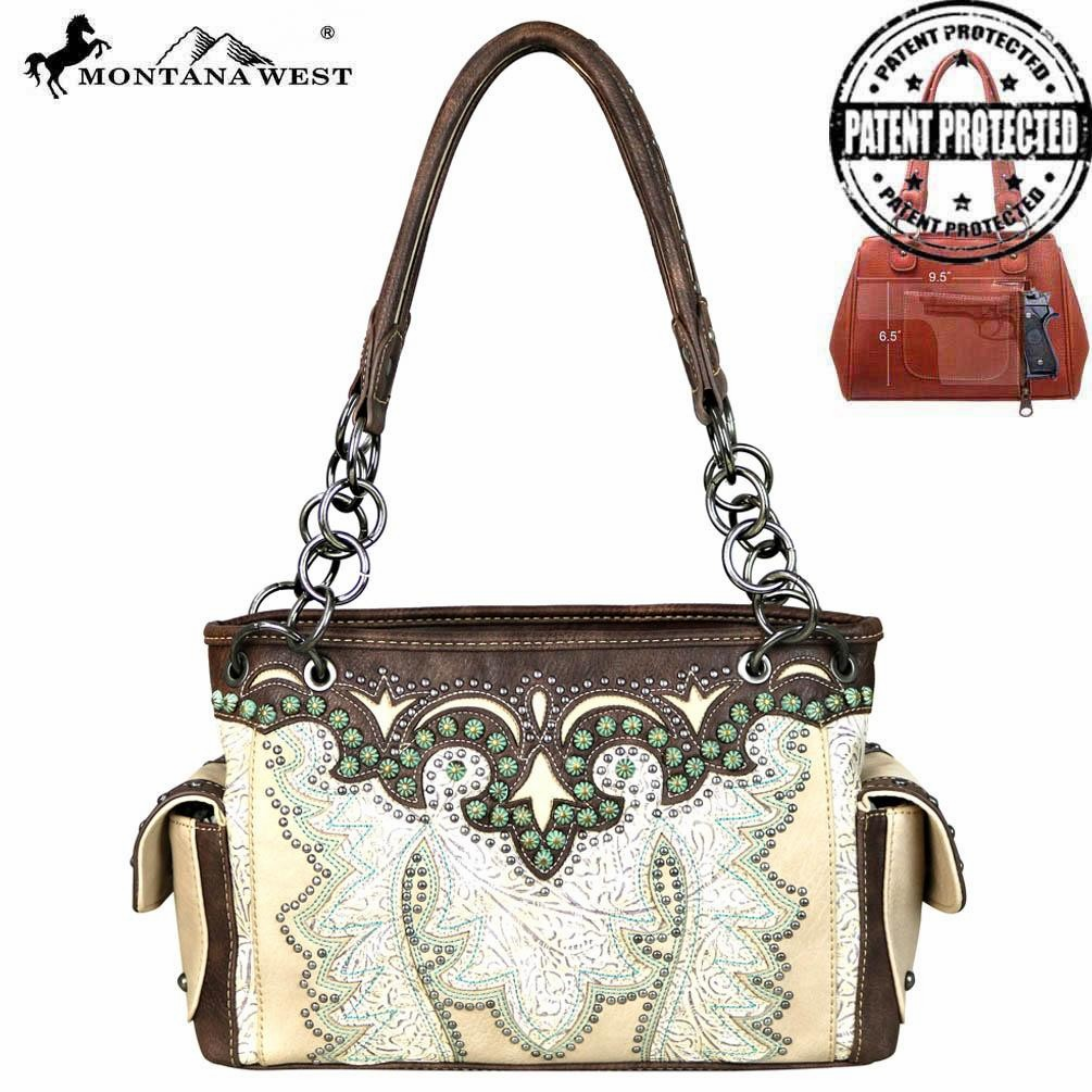 Montana Tooled Collection Concealed Handgun Satchel