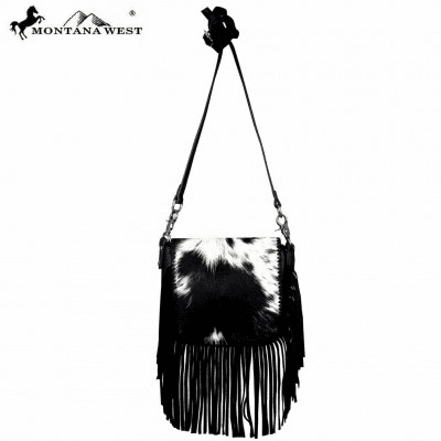 Montana West 100% Real Leather Hair-On Crossbody