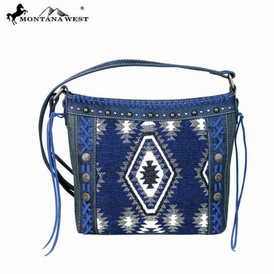 Montana West Aztec Denim Collection Crossbody Bag
