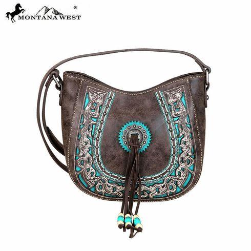Montana West Concho Collection Crossbody Coffee