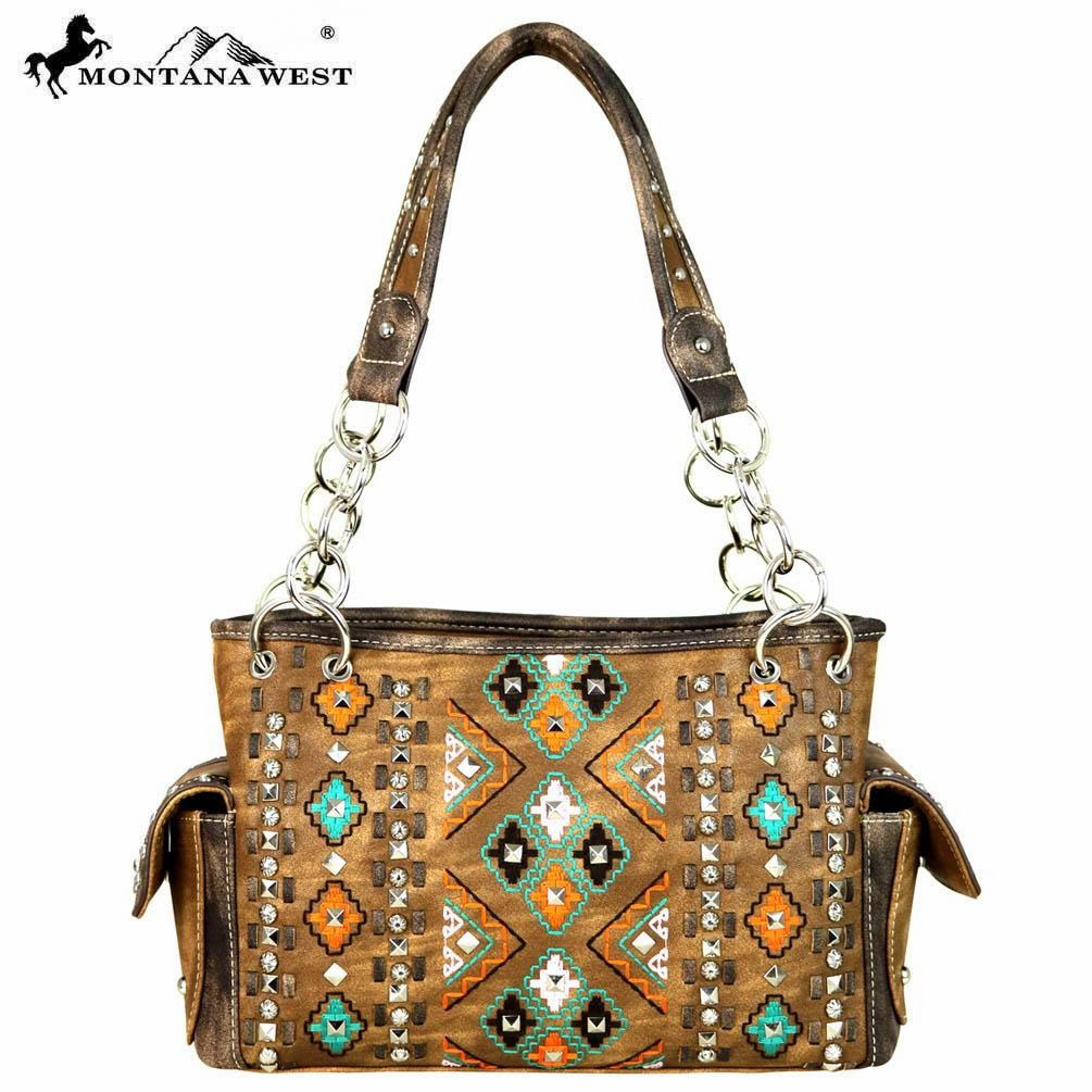 Montana West Embroidered Collection Satchel Bag