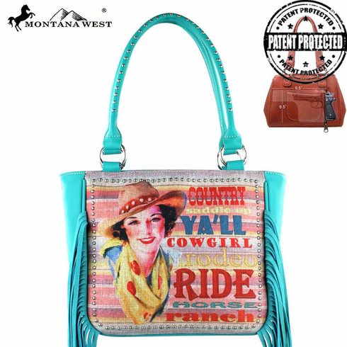 Montana West Fringe Collection Concealed Handgun Handbag