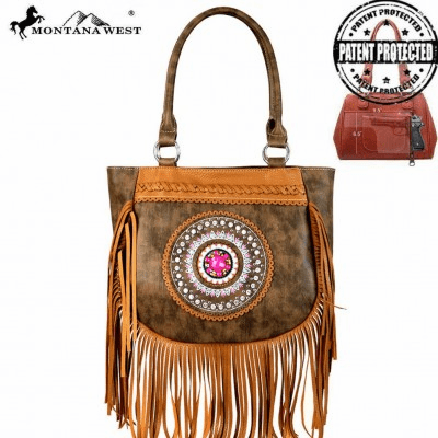 Montana West Tribal Collection Concealed Handgun Tote Coffee