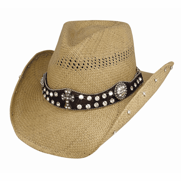 More Than Words - Genuine Panama Straw Cowboy Hat