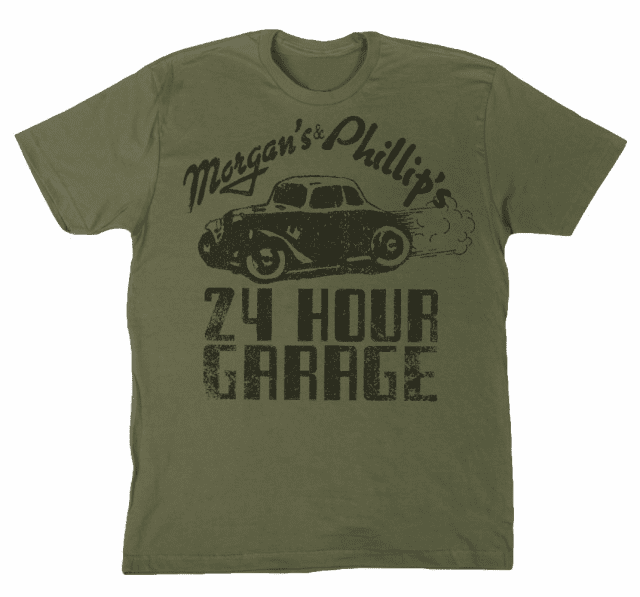 Morgan's and Phillip's  24 Hour Garage Tee