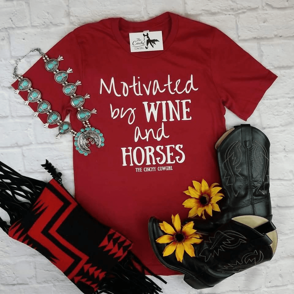 Motivated by Wine & Horses Tee