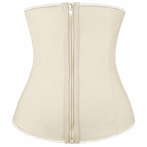 Nude Latex Waist Training Corset w/Zipper