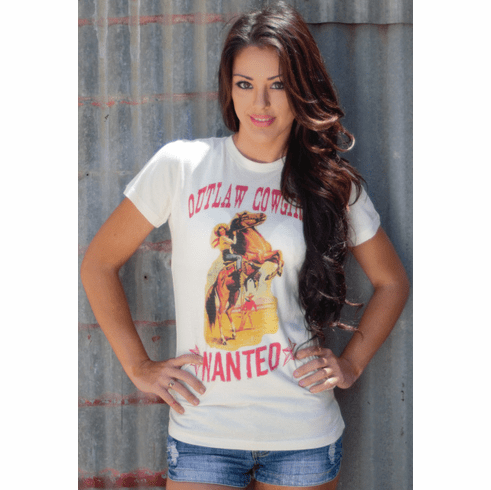 Outlaw Cowgirl Wanted Tee