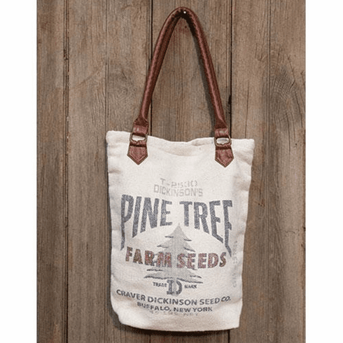 Pine Tree Canvas Tote