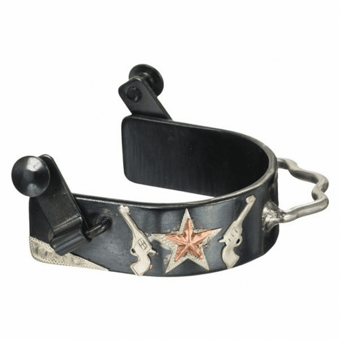 Pistol and Cop Star Bumper Spur