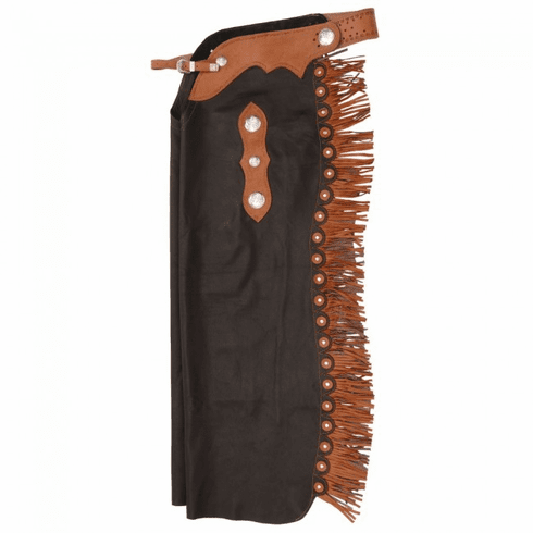 Premium Smooth Leather Custom Cowboy Cutting Chaps - Brown
