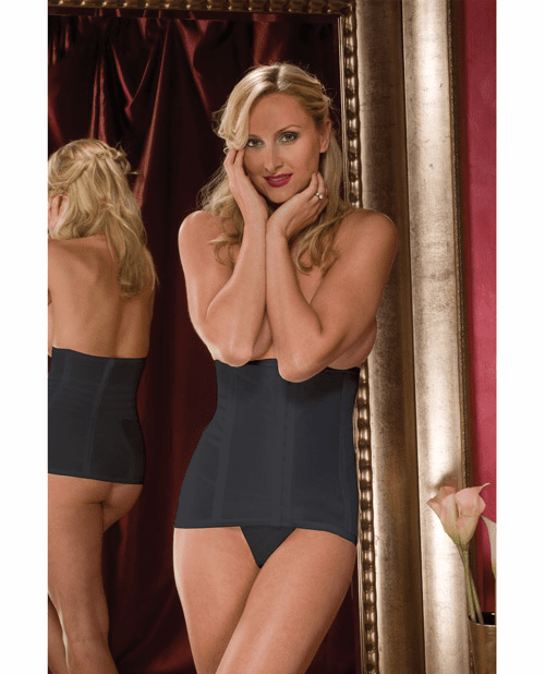 Rago Shapewear High Waisted Waist Cincher Black
