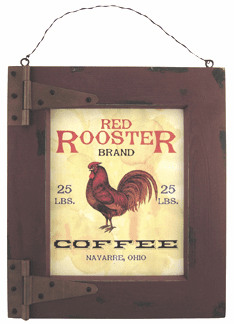 Red Rooster Coffee Sign