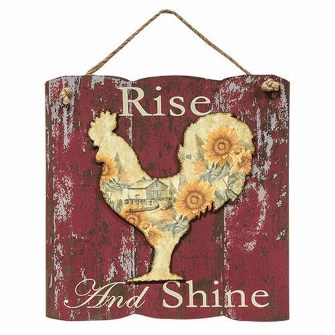 Rise and Shine Rooster Sign - 12""
