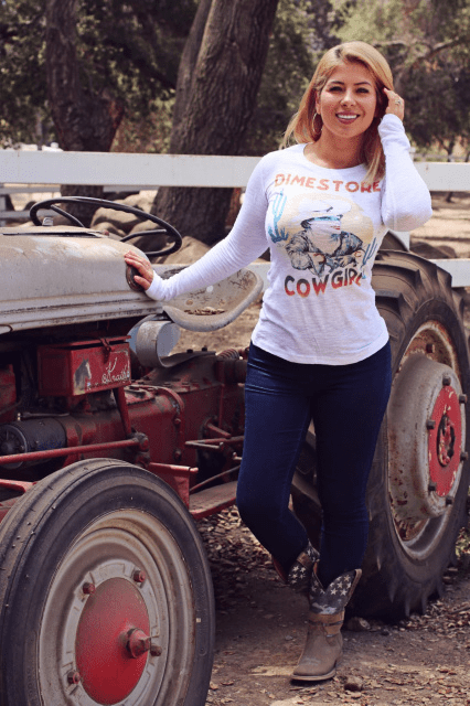 Rockin' B Clothing, Dimestore Cowgirl  Long Sleeve