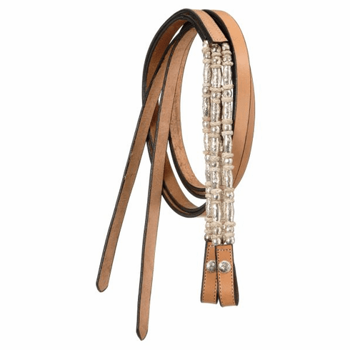 Royal King Ferrules/Rawhide Show Reins - 18-625-32-0 Light Oil