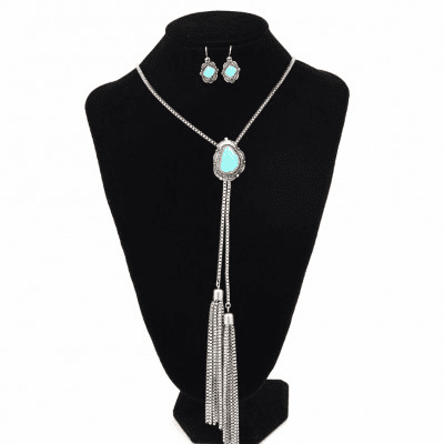SBTQ Western Bolo TQ Necklace set