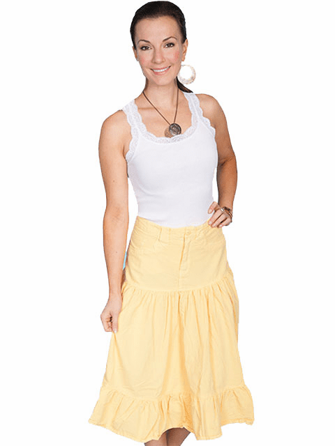 Scully 5 pocket Skirt Yellow