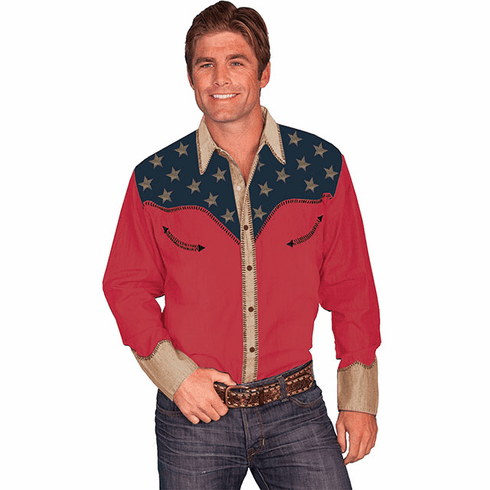 Scully All American Western Shirt Red