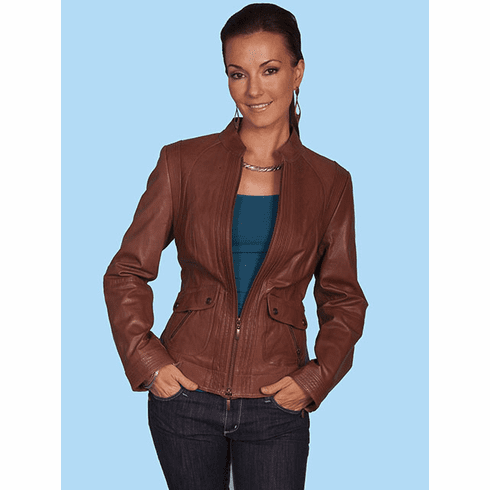 Scully Austin Leather Jacket - Cognac
