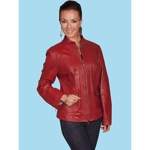 Scully Austin Leather Jacket  - Red*