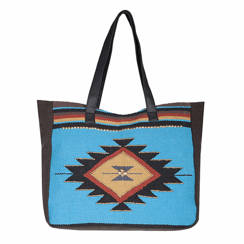 Scully Aztec Teal Tote Bagj