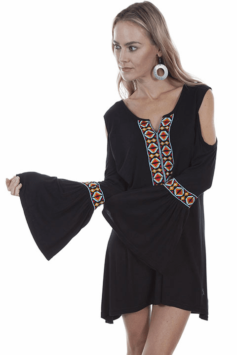 Scully Aztec Top Black