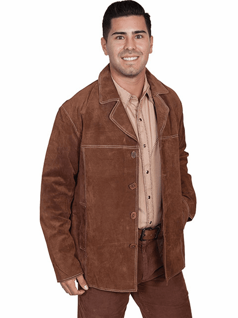 Scully Boar Suede Car Coat CINNAMON