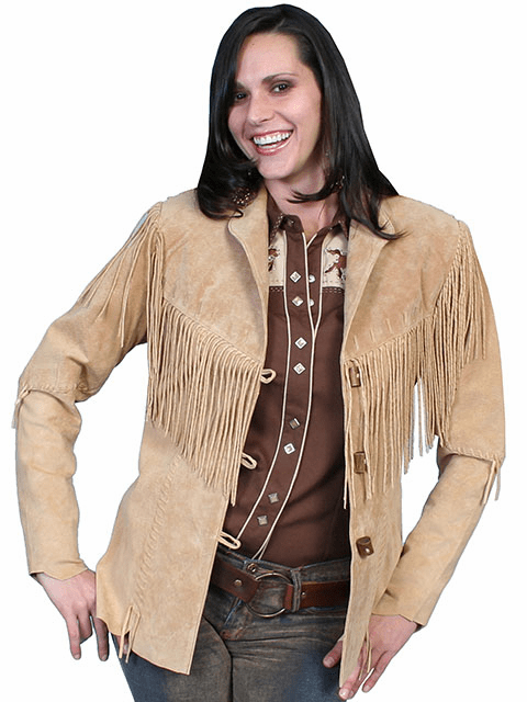 Scully Boar Suede Fringe Jacket - Old Rust