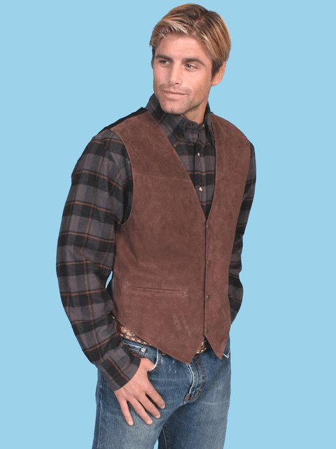 Scully Boar Suede Vest - Brown