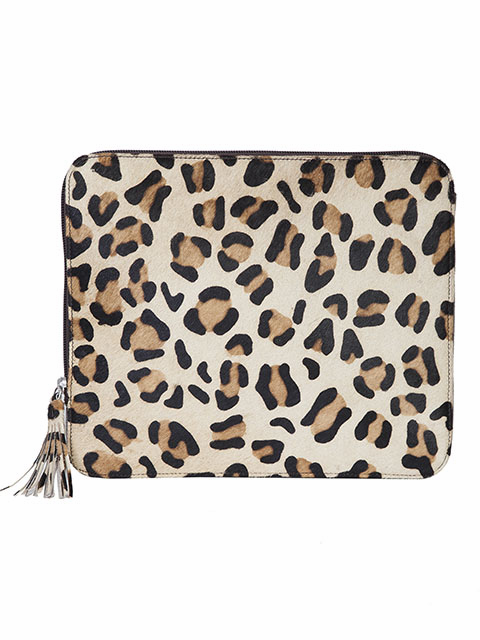Scully Bombshell Cowgirl Tablet Case Animal Print Brown