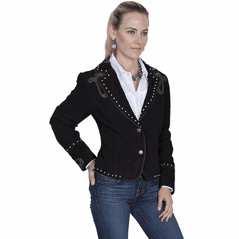 Scully Bootstitch Boar Suede Jacket Black