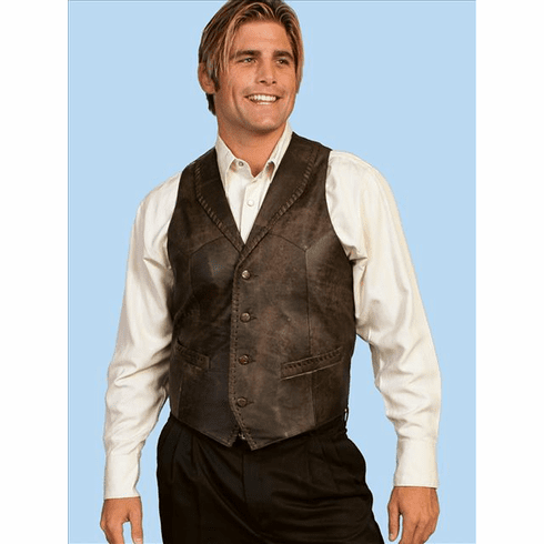 Scully Buffed Calf Skin Leather Western Vest