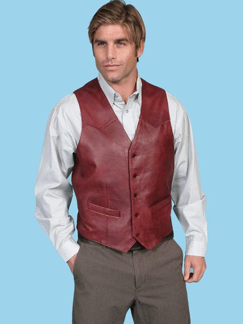 Scully Button Vest - Black Cherry*