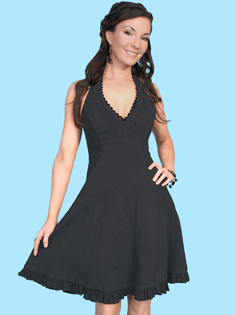 Scully Cantina Collection™ Ladies Halter Sundress w/Ric-Rac - MORE COLORS!!
