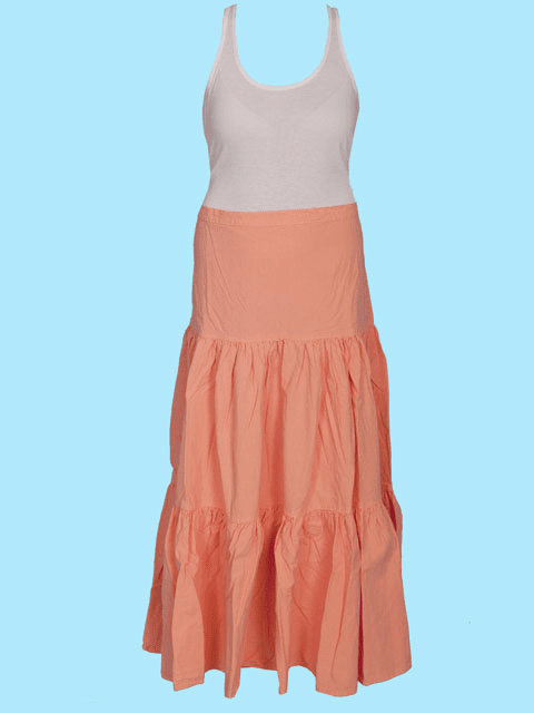 Scully Cantina Cowgirl 3 Tiered Skirt - Peach