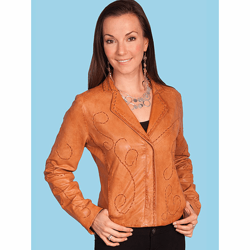 Scully Casa Grande Whip Stitch Jacket - Cognac