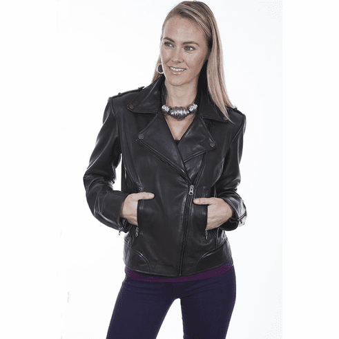 Scully Classic Leather Motorcycle Jacket Black