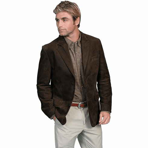 Scully Contemporary Leather Blazer Jacket Brown
