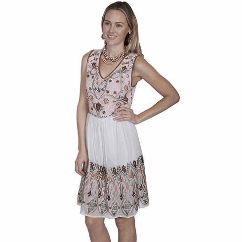 Scully Country Girl Dress Ivory