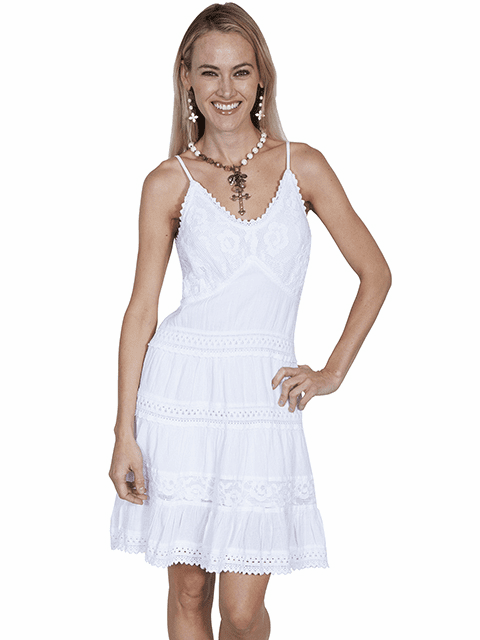 Scully Country Girl Short Dress  White
