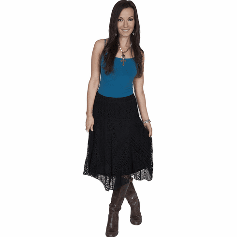 Scully Country Time Lace Skirt - Black