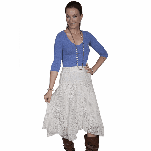 Scully Country Time Lace Skirt - Ivory
