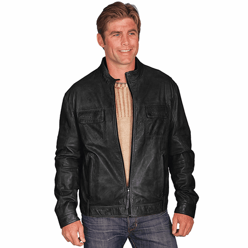 Scully Cowboy Black Leather Jacket