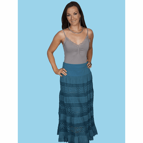 Scully Cowgirl Crochet Panel Skirt