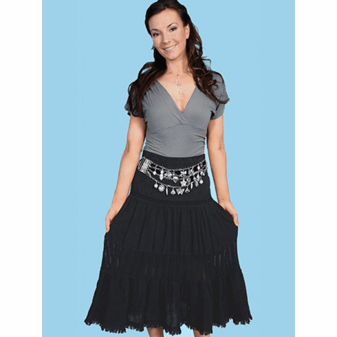 Scully Cowgirl Full Skirt Black